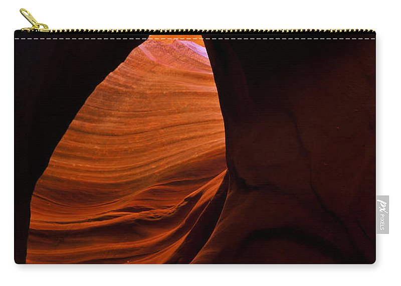 Antelope Canyon Carry-all Pouch featuring the photograph Eye Of The Desert by Mike Dawson