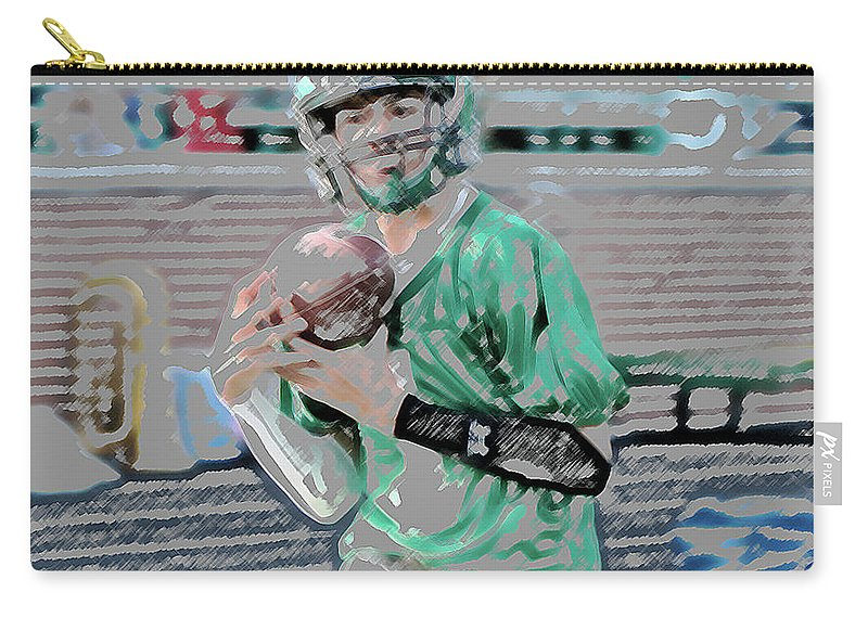Digital Art Carry-all Pouch featuring the digital art Eye On The Ball Digital Art by Thomas Woolworth