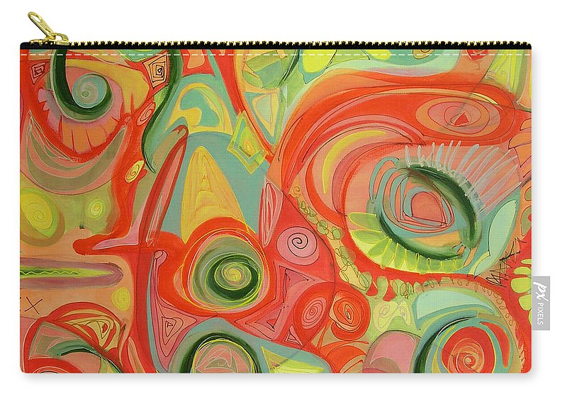 Abstract Carry-all Pouch featuring the painting Eye On The Dawn by Lynne Taetzsch