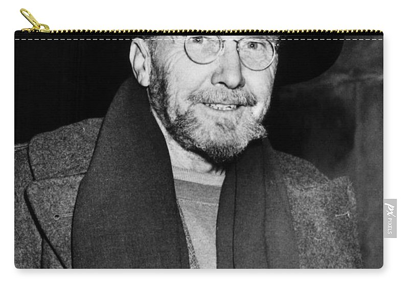 1945 Carry-all Pouch featuring the photograph Ezra Pound (1885-1972) by Granger