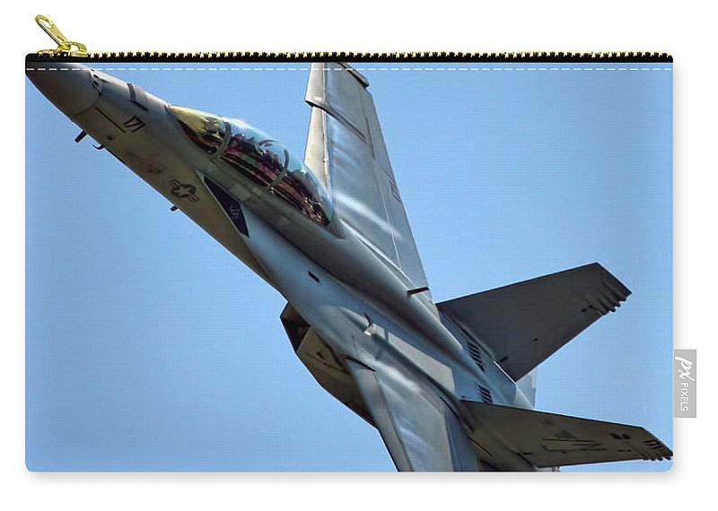 F18 Hornet Carry-all Pouch featuring the photograph F-18 Hornet by Alan Hutchins