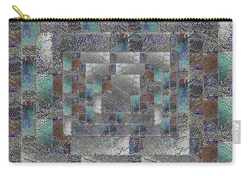 Abstract Carry-all Pouch featuring the digital art Facade 12 by Tim Allen
