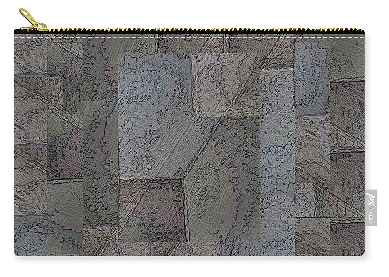 Abstract Carry-all Pouch featuring the digital art Facade 3 by Tim Allen