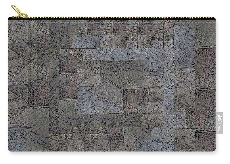 Abstract Carry-all Pouch featuring the digital art Facade 4 by Tim Allen
