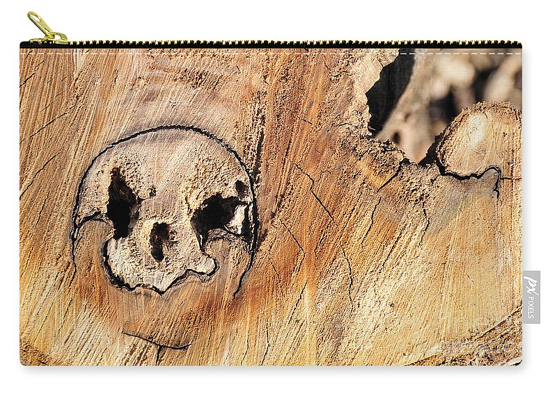 Face Carry-all Pouch featuring the photograph Face In The Wood by David Arment