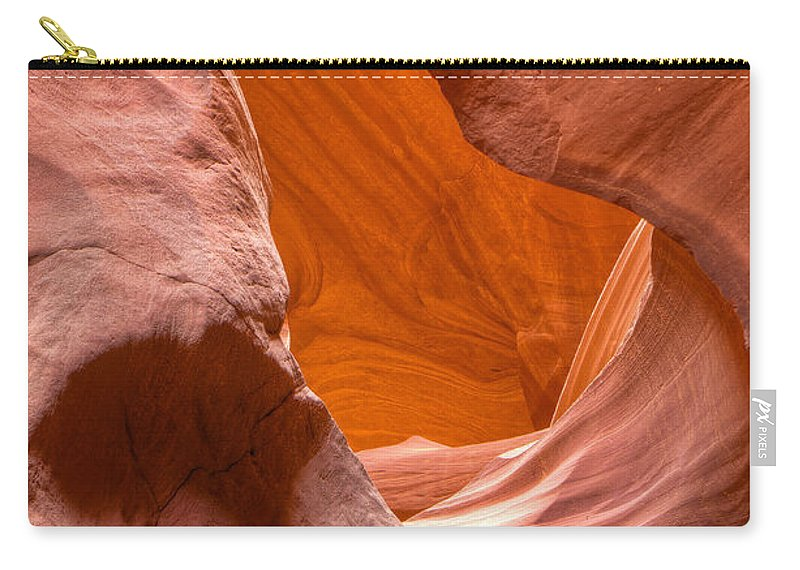 Antelope Canyon Carry-all Pouch featuring the photograph Face Of Man by Larry White