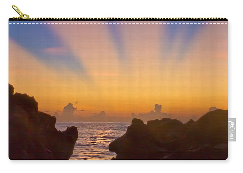 Coral Cove Carry-all Pouch featuring the photograph Face The Morning by Debra and Dave Vanderlaan
