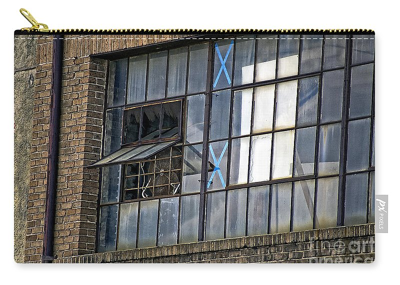Window Carry-all Pouch featuring the photograph Factory Air In New Orleans by Kathleen K Parker