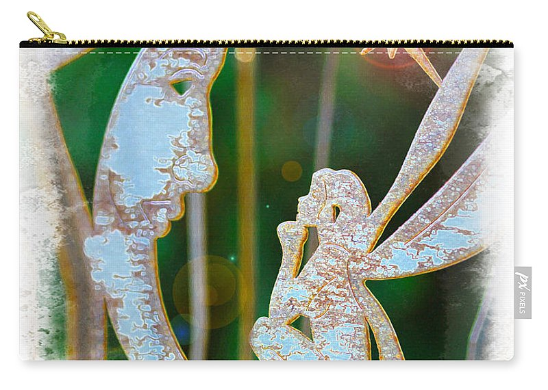 Faery Carry-all Pouch featuring the photograph Faery Moon by Diana Haronis