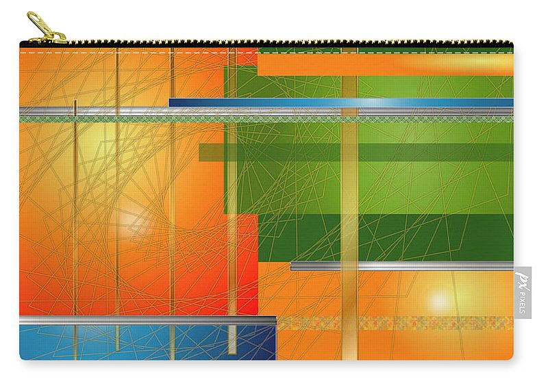 Digital Carry-all Pouch featuring the digital art Failing Perspective Limited Edition by Robin Lewis