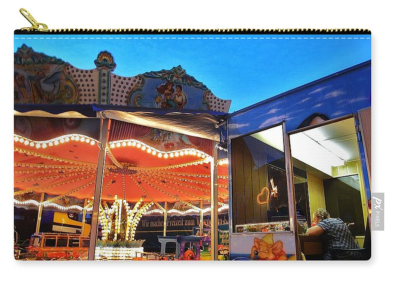Fairground Attraction Carry-all Pouch featuring the photograph Fairground Attraction 1 by Andy Prendy
