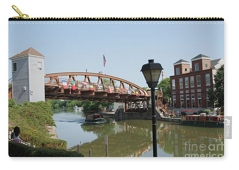 Erie Canal Carry-all Pouch featuring the photograph Fairport Lift Bridge by William Norton