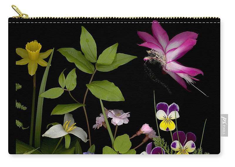 Spring Flowers Carry-all Pouch featuring the photograph Fairy Dust by Sandi F Hutchins