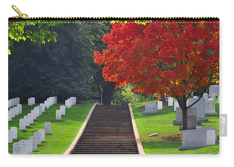 Arlington National Cemetery Carry-all Pouch featuring the photograph Fall In Arlington Cemetery by Brittany Horton