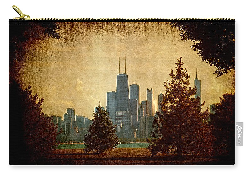 Lake Carry-all Pouch featuring the photograph Fall In The City by Milena Ilieva