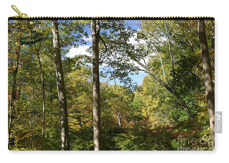 Forest Carry-all Pouch featuring the photograph Fall In The Forest by Living Color Photography Lorraine Lynch