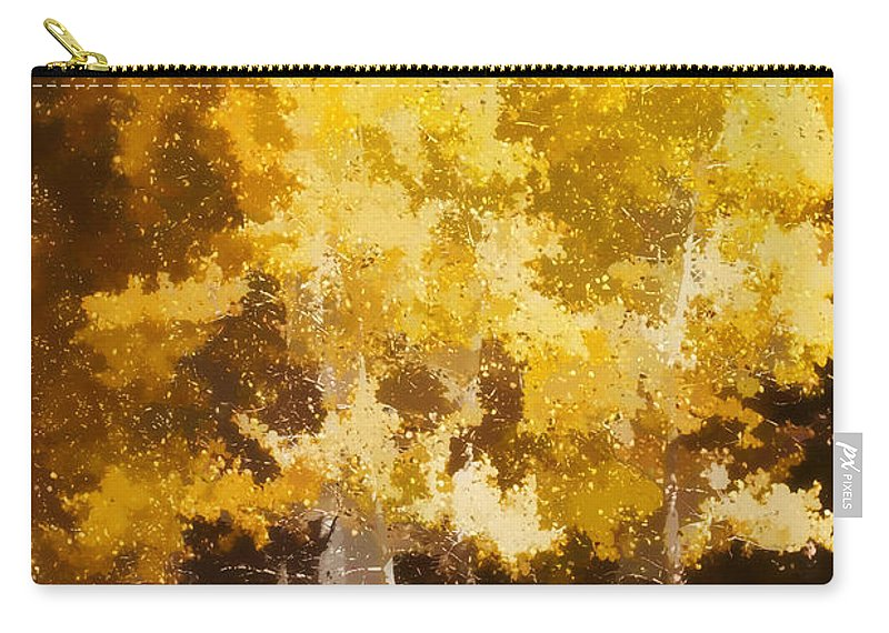 Aspen Carry-all Pouch featuring the photograph Fall In The Sierra II by Carol Leigh