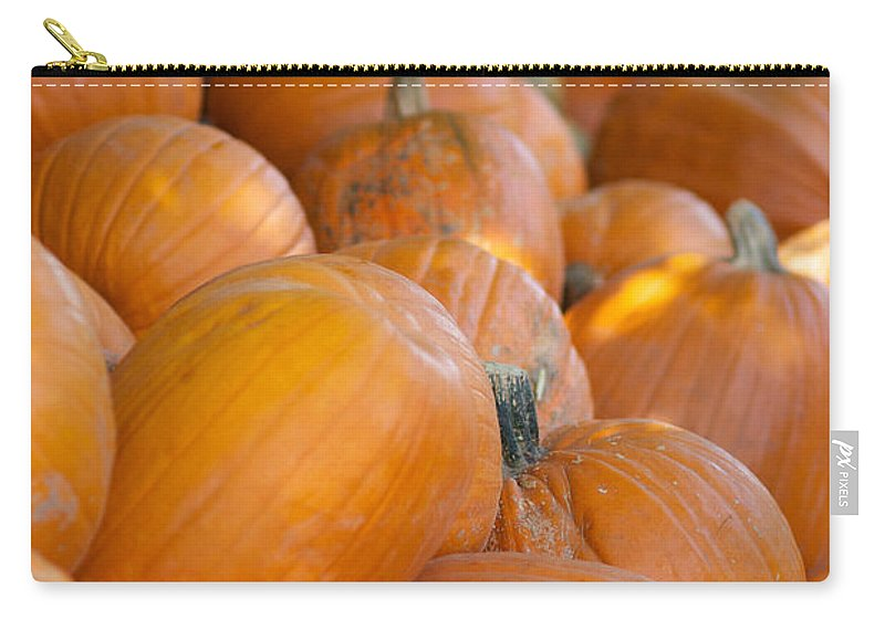 Pumpkin Carry-all Pouch featuring the photograph Fall Pumpkins by Brooke Roby