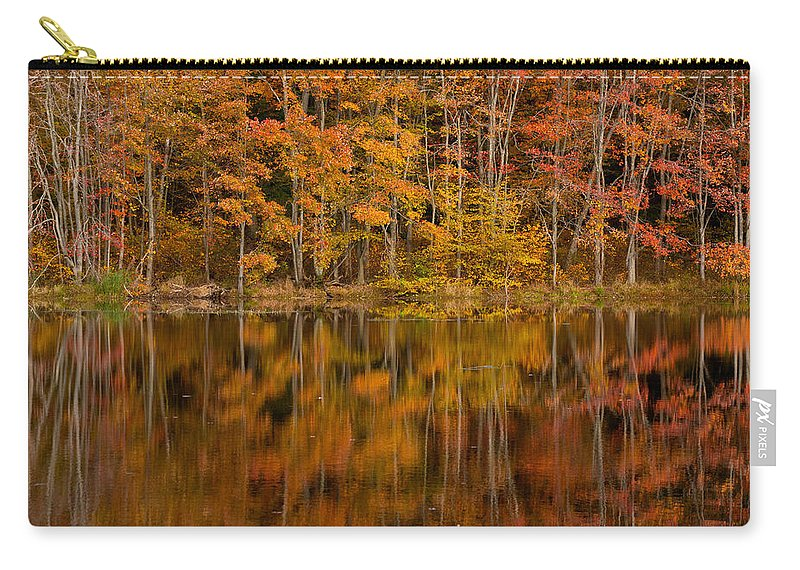Fall Carry-all Pouch featuring the photograph Fall Reflection by Karol Livote