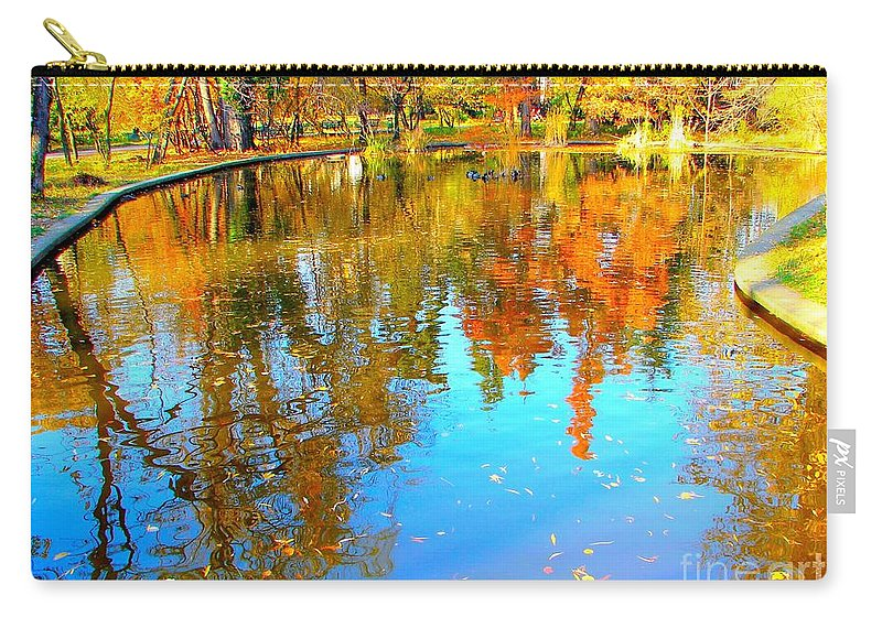 Fall Carry-all Pouch featuring the photograph Fall Reflections by Ana Maria Edulescu