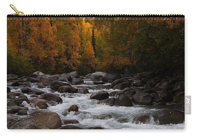 Doug Lloyd Carry-all Pouch featuring the photograph Fall River by Doug Lloyd