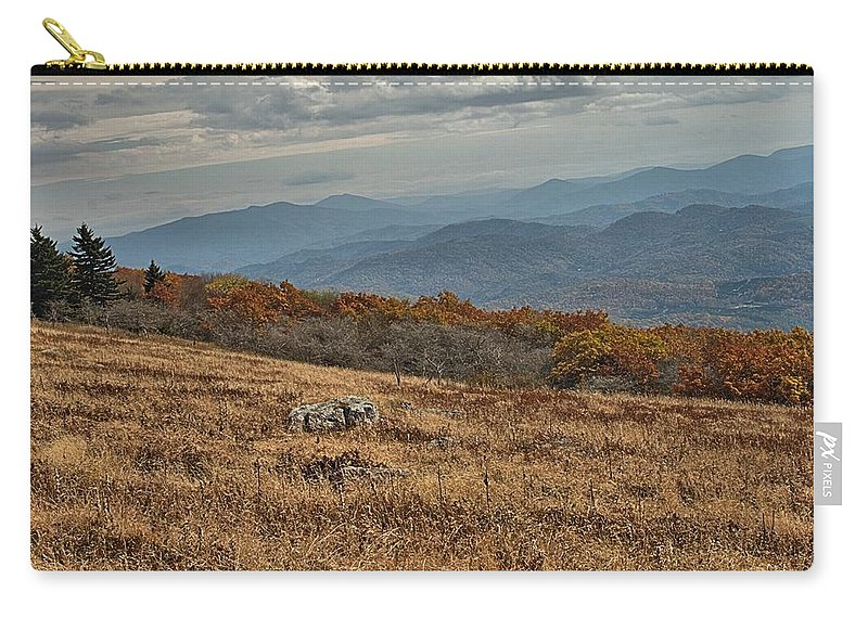 Fall Carry-all Pouch featuring the photograph Fall Scene On Whitetop Mountain Va by Mel Hensley