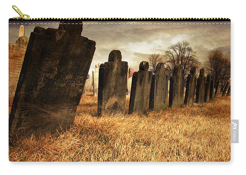 Tomb Stone Carry-all Pouch featuring the photograph Fallen Comrades Of The Civil War by Paul Ward