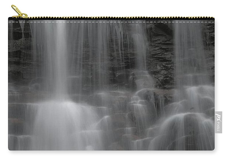 Waterfall Carry-all Pouch featuring the photograph Falling Water by Adam Jewell