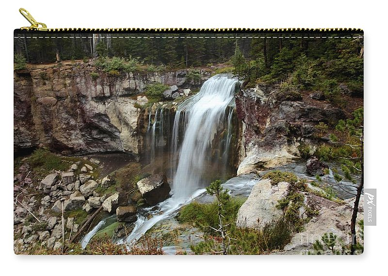Paulina Falls Carry-all Pouch featuring the photograph Falls At Newberry by Adam Jewell