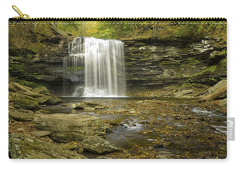 Landscape Carry-all Pouch featuring the photograph Falls Panorama by Fran Gallogly
