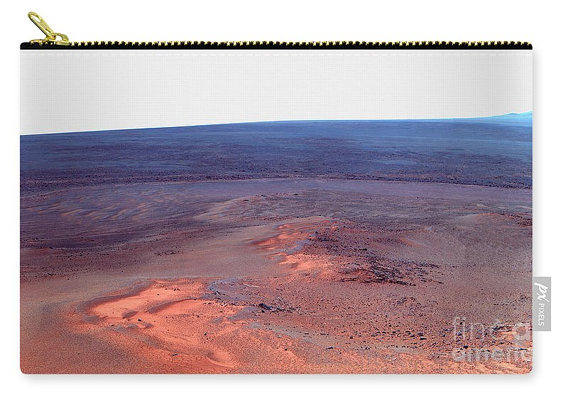 Surface Carry-all Pouch featuring the photograph False Color Mosaic Of Greeley Haven by Stocktrek Images
