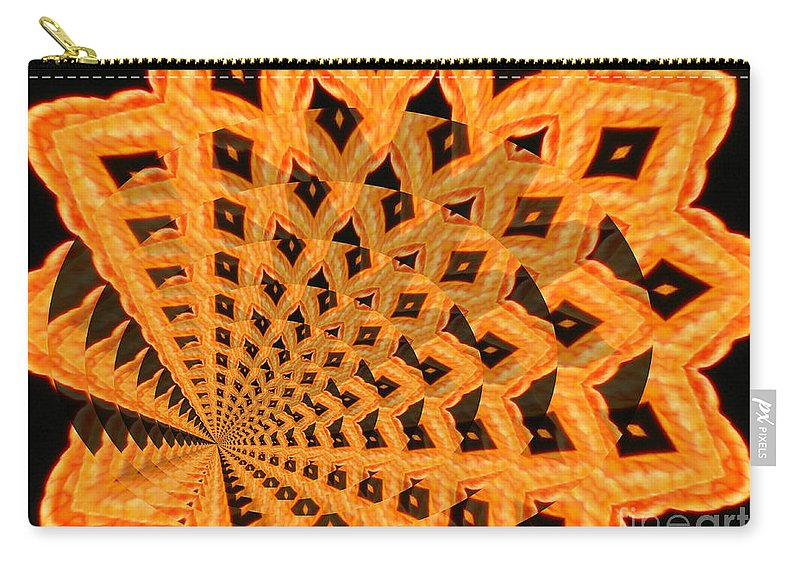 Digital Art Carry-all Pouch featuring the photograph Fancy Coral by Donna Brown