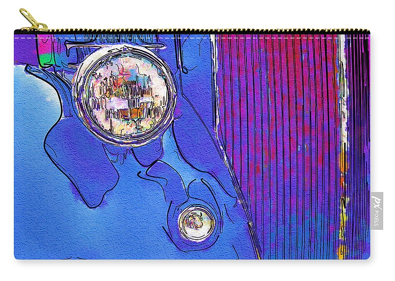 Ford Carry-all Pouch featuring the photograph Fancy Dancy Vintage Ford Cabriolet by Kathy Clark