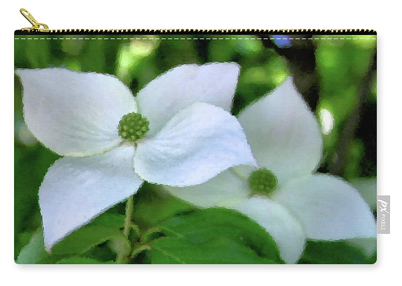 Dogwood Carry-all Pouch featuring the photograph Fancy Dogwood by Kristin Elmquist