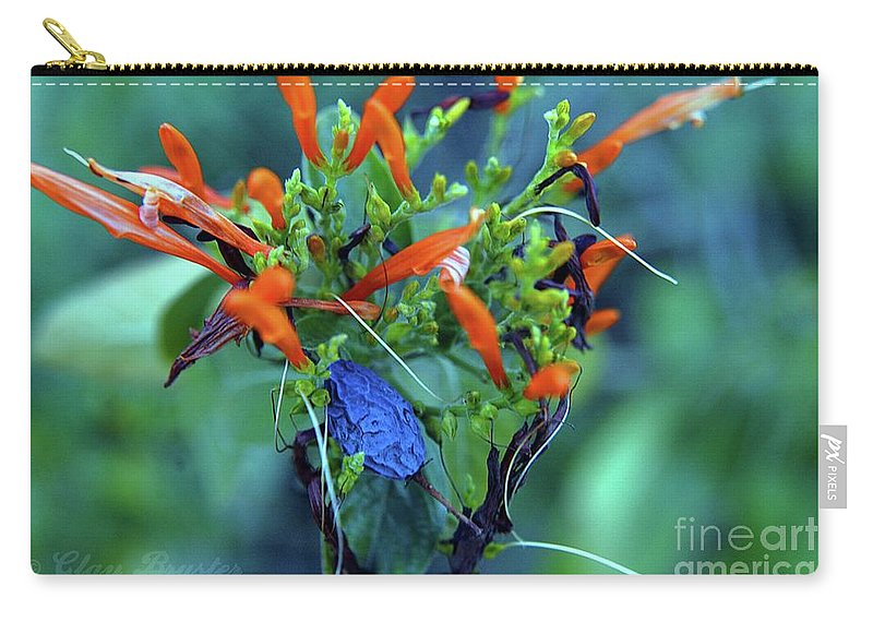 All Rights Reserved Carry-all Pouch featuring the photograph Fantasmic Floral by Clayton Bruster