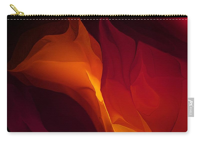 Fine Art Carry-all Pouch featuring the photograph Fantasy Floral 030112 by David Lane