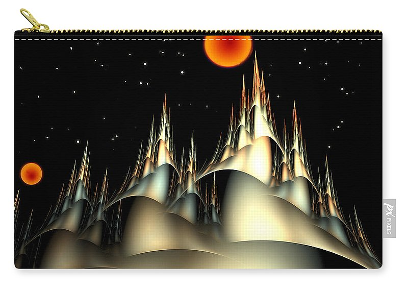 Fantasy Carry-all Pouch featuring the digital art Fantasyland by Richard Ortolano