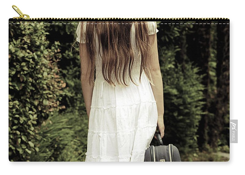 Girl Carry-all Pouch featuring the photograph Farewell by Joana Kruse