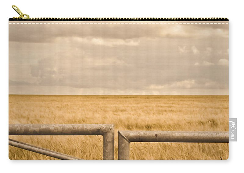 Agriculture Carry-all Pouch featuring the photograph Farm Gate by Tom Gowanlock