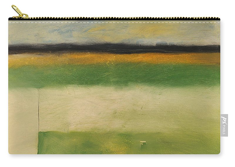 Landscape Carry-all Pouch featuring the painting Farmfield By Highway 29 by Tim Nyberg