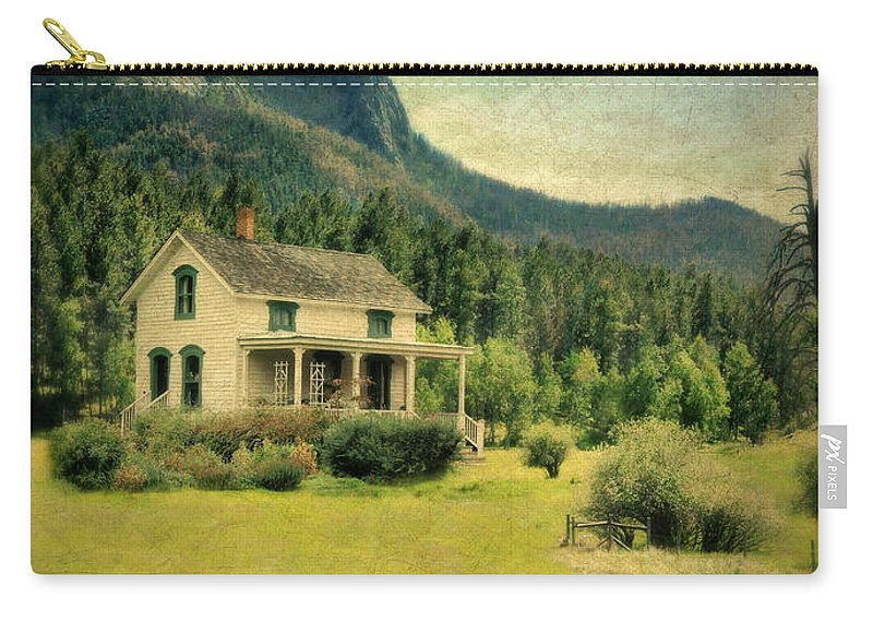 Garden Carry-all Pouch featuring the photograph Farmhouse by Jill Battaglia
