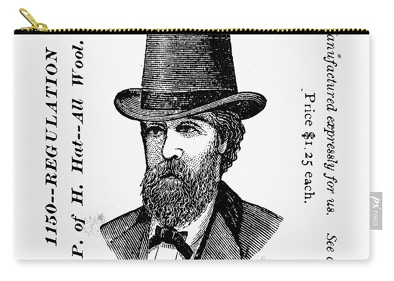 19th Century Carry-all Pouch featuring the photograph Fashion: Granger Hat by Granger