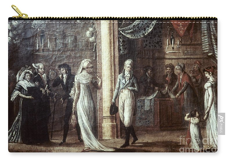 1799 Carry-all Pouch featuring the photograph Fashionable Parisians, 1799 by Granger