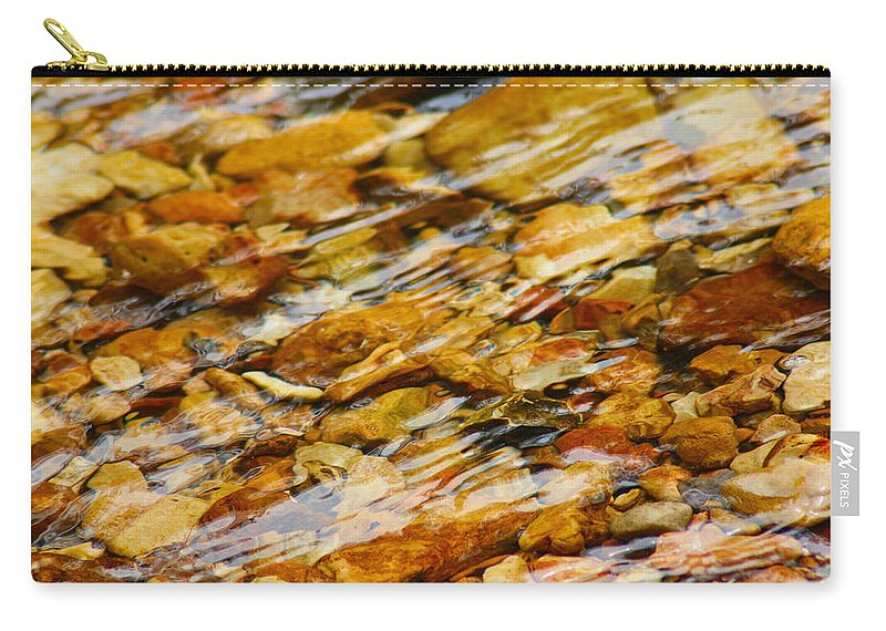 Stream Carry-all Pouch featuring the photograph Fast Flowing by Karen Wagner