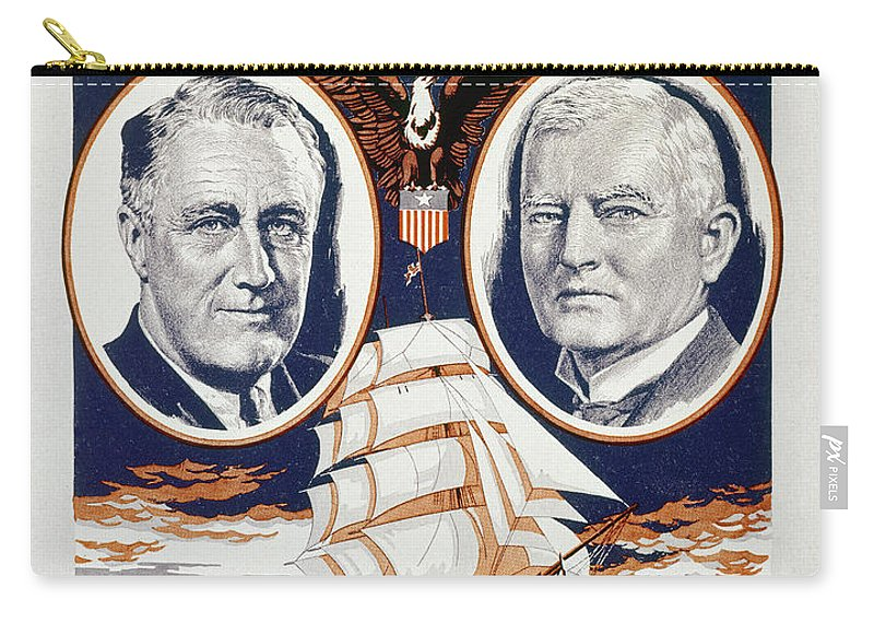 1933 Carry-all Pouch featuring the photograph Fdr: Inauguration, 1933 by Granger