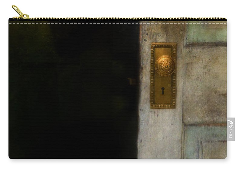 Woman Carry-all Pouch featuring the photograph Fear by Jill Battaglia