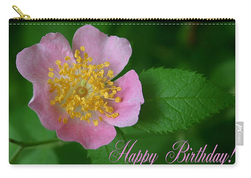 Happy Birthday Carry-all Pouch featuring the photograph February Birthday by Kristin Elmquist