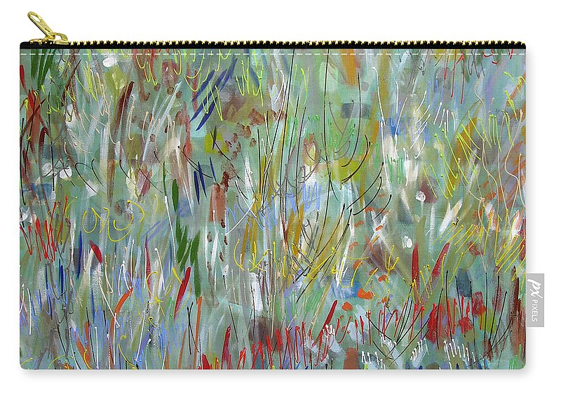 Abstract Carry-all Pouch featuring the painting Feeling Your Way by Lynne Taetzsch
