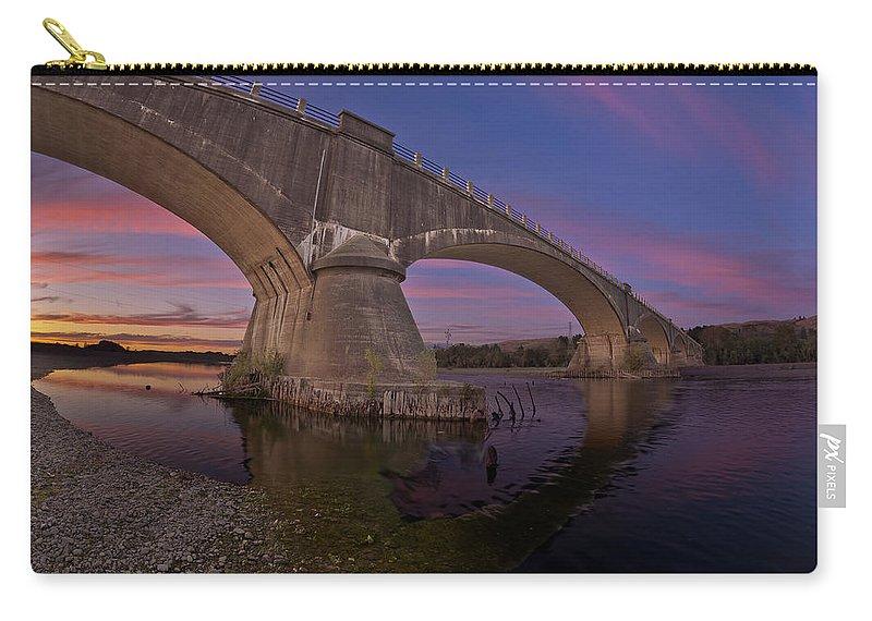 Fernbridge Carry-all Pouch featuring the photograph Fernbridge Dusk by Greg Nyquist