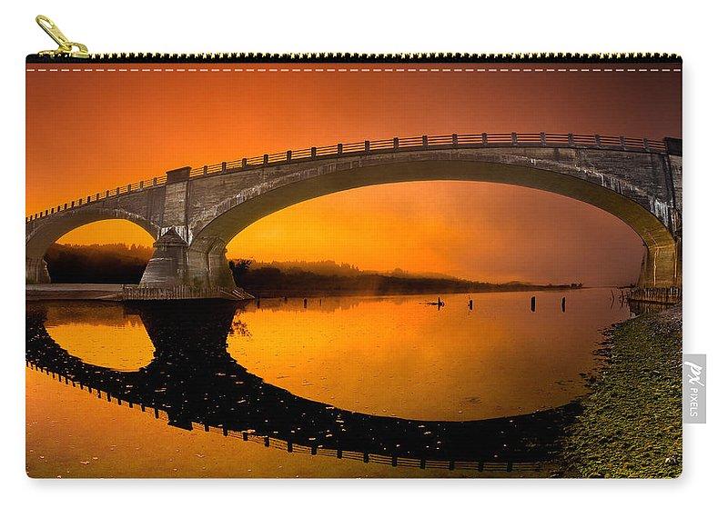 Fernbridge Carry-all Pouch featuring the photograph Fernbridge Sunrise by Greg Nyquist